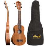 Amahi UK210KK Mahogany Arched Back Travel Size Uke
